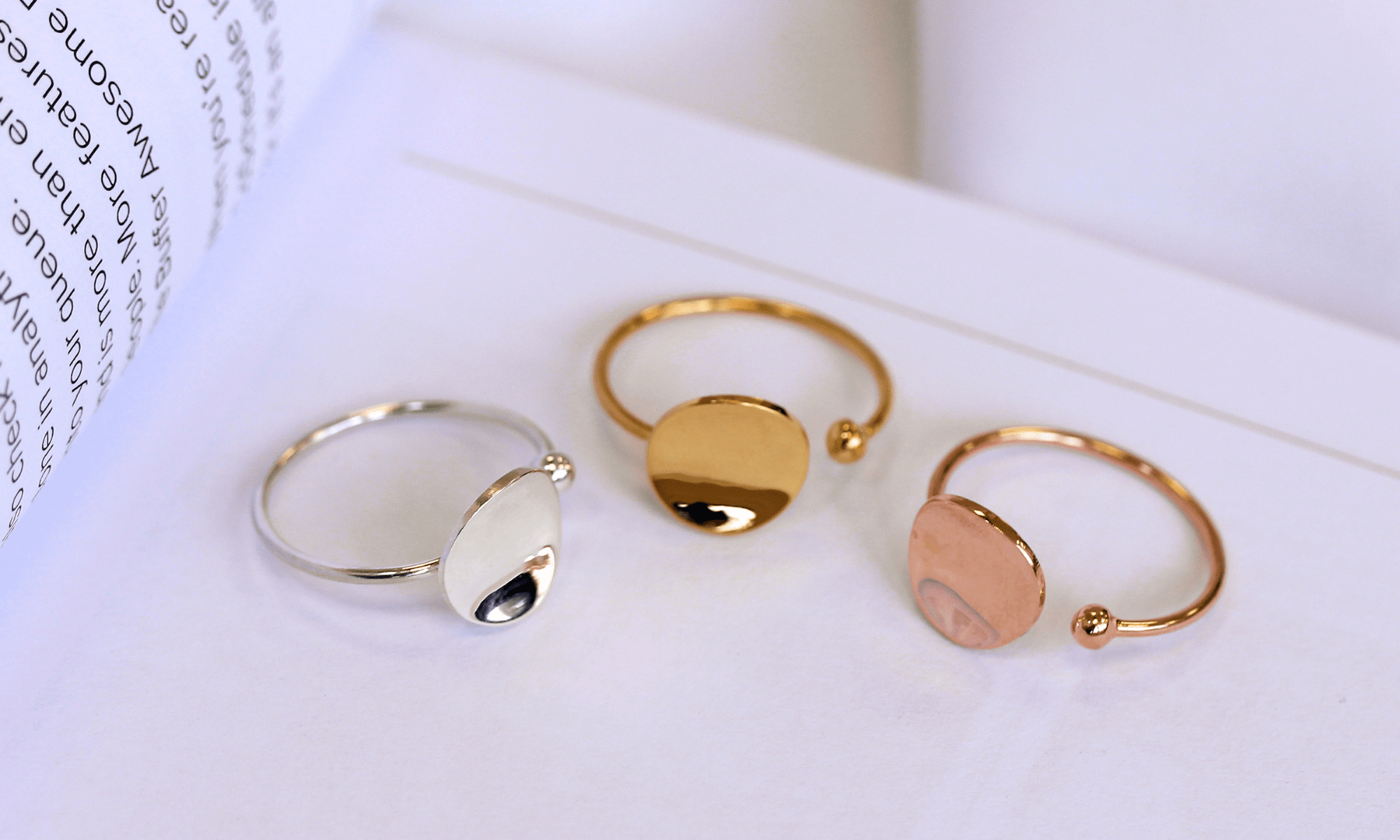 An image showing the stacking rings