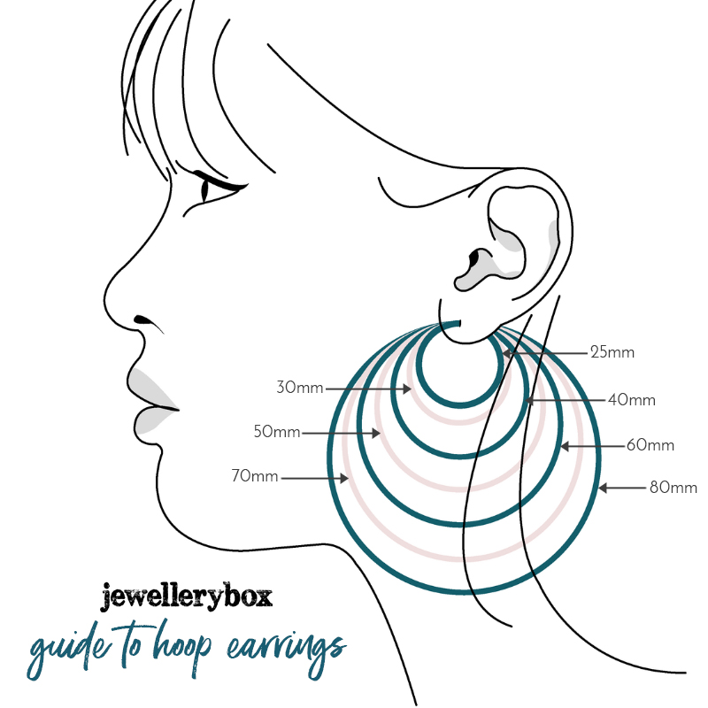 large hoop earrings size guide