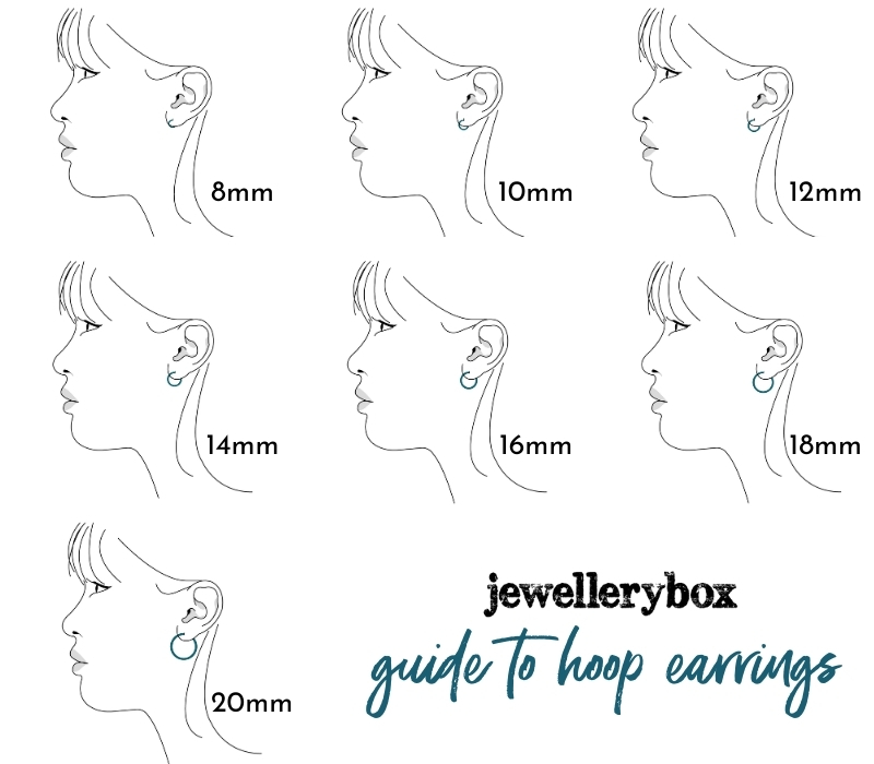 small hoop earrings size guide