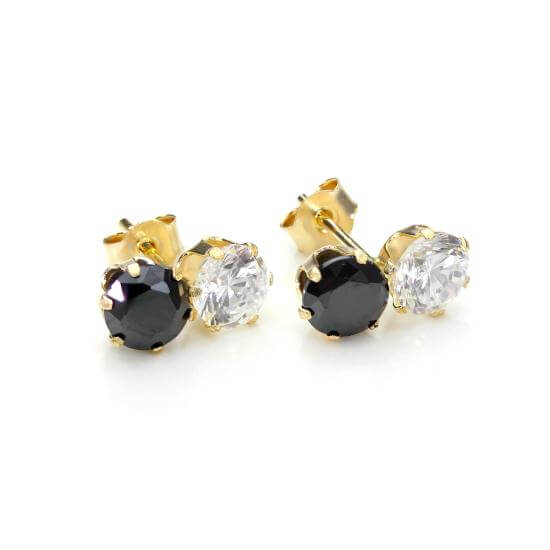 Black Stud Earrings & Black Jewellery