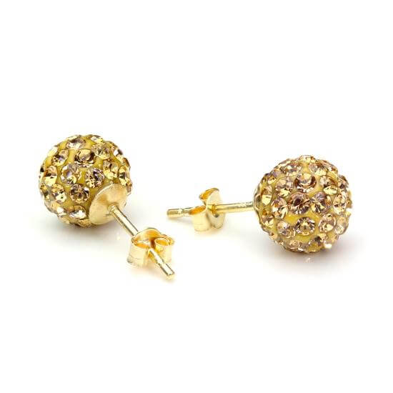 Champagne Crystal Earrings & Nose Studs