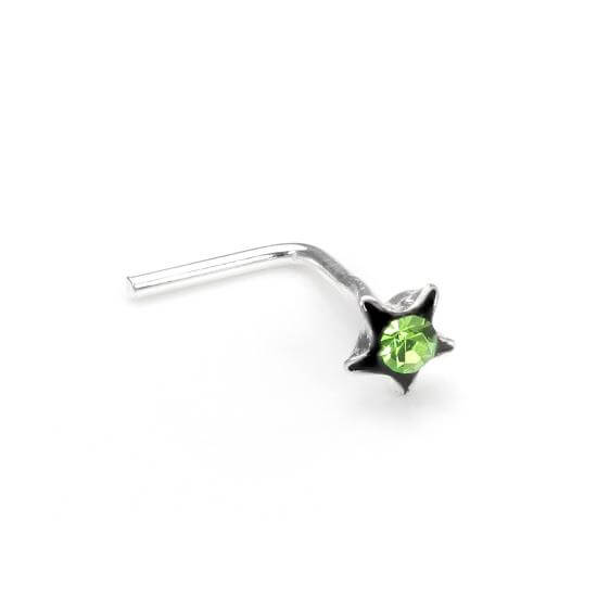 Green Crystal Nose & Earring Studs