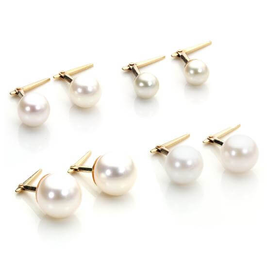 Real Pearl Studs, Necklaces & Bracelets