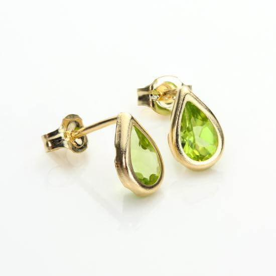 Green Peridot Stud Earrings & Pendants