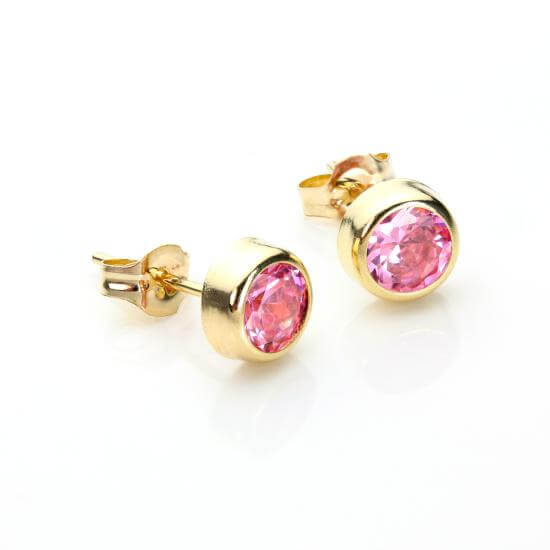 Pink Crystal Nose Studs & Earring Studs