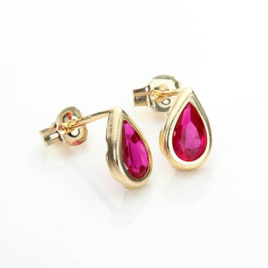 Ruby Earrings, Nose Studs & Rings