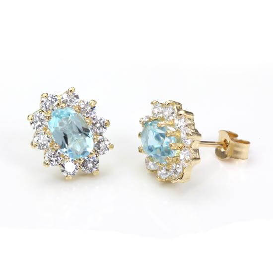 Blue Topaz Rings, Studs & Pendants