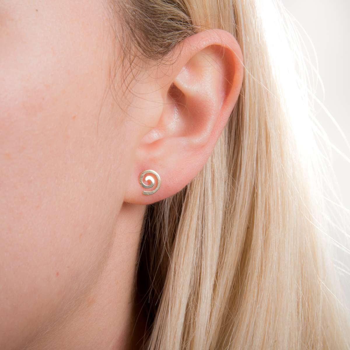 Alterative image for 9ct Gold Spiral Stud Earrings
