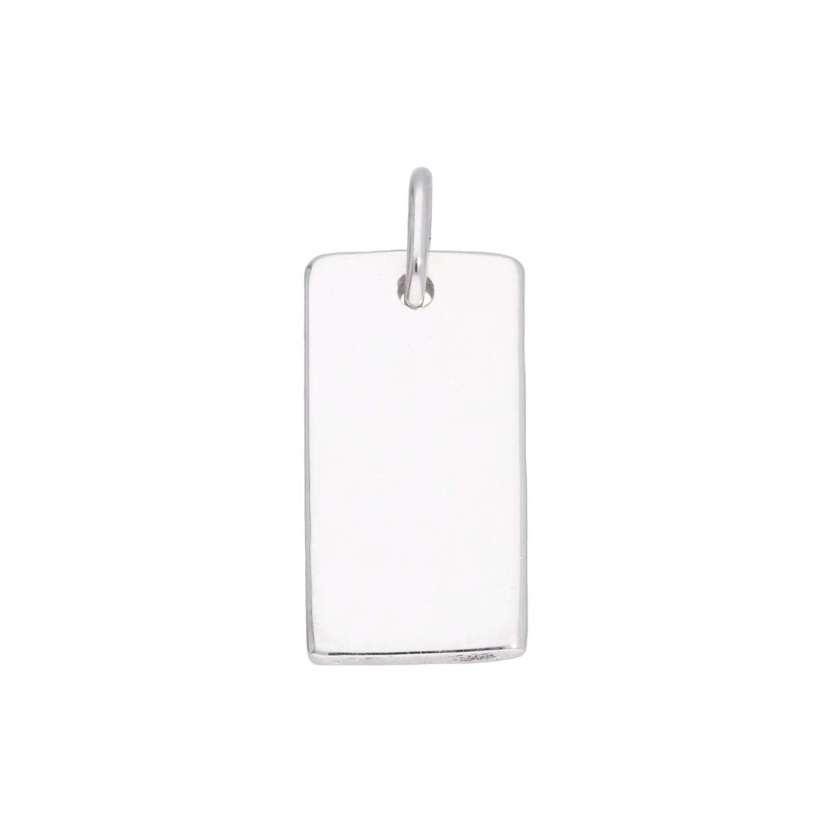 Alterative image for Sterling Silver Engravable Rectangular Dog Tag Charm