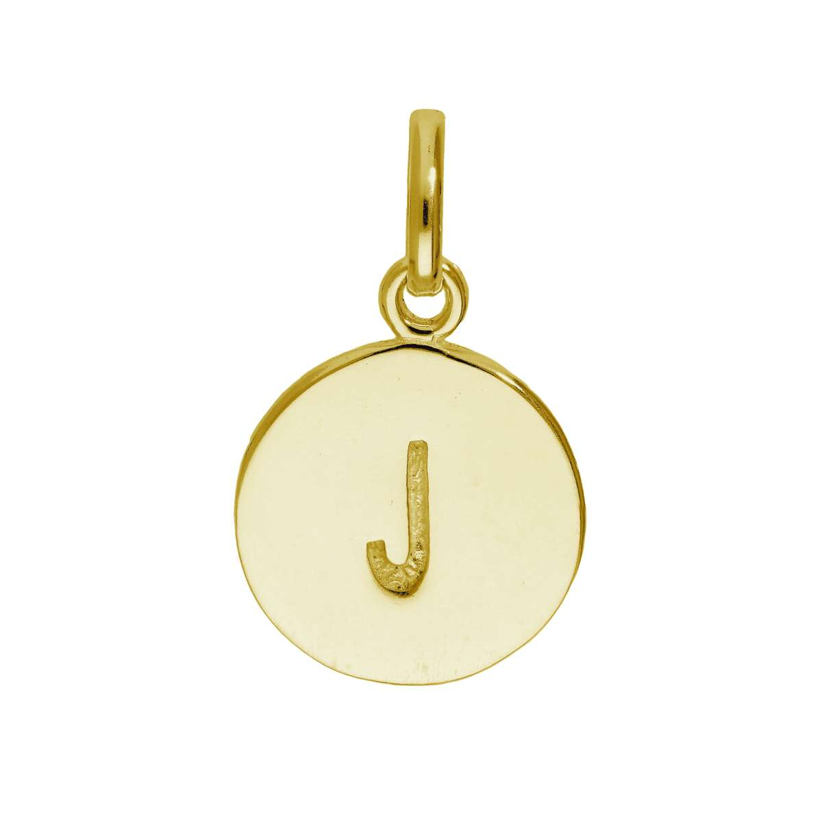 Alterative image for Gold Plated Sterling Silver Engravable Letter J Charm