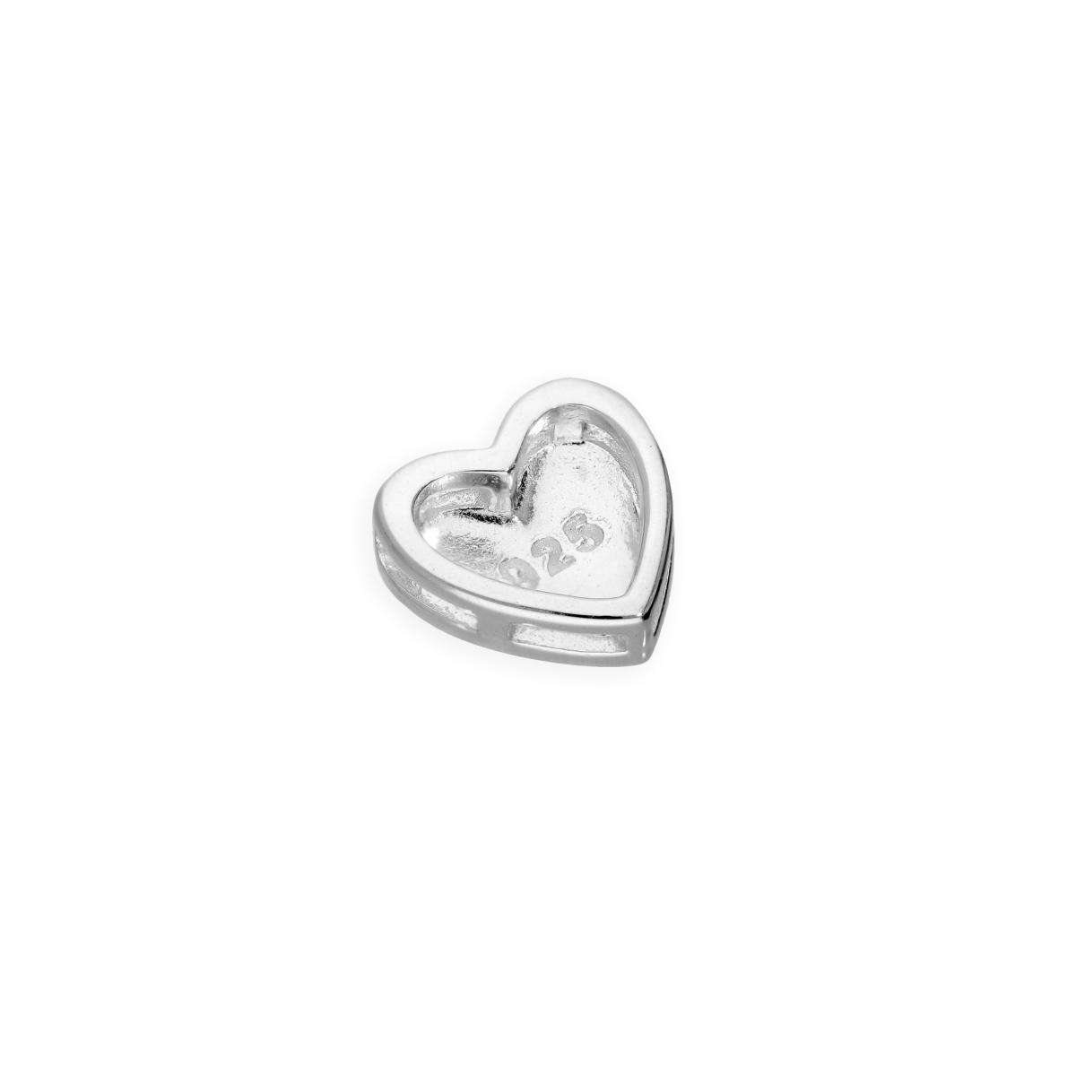 Alterative image for Sterling Silver Floating Heart Charm