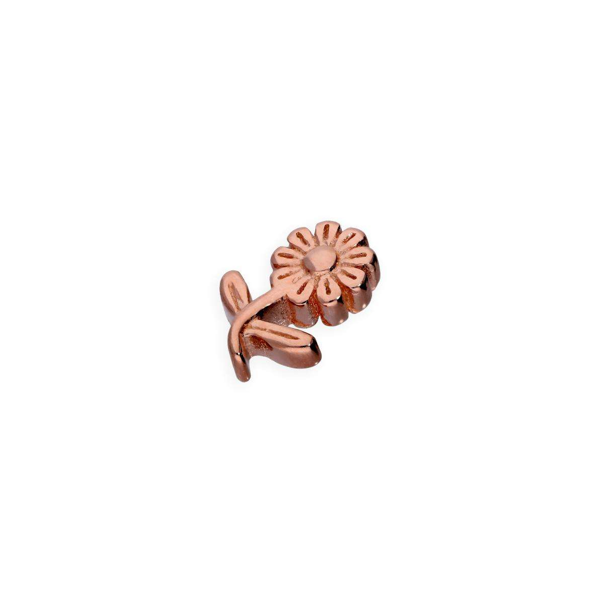 Alterative image for Rose Gold Plated Sterling Silver Floating Flower Charm