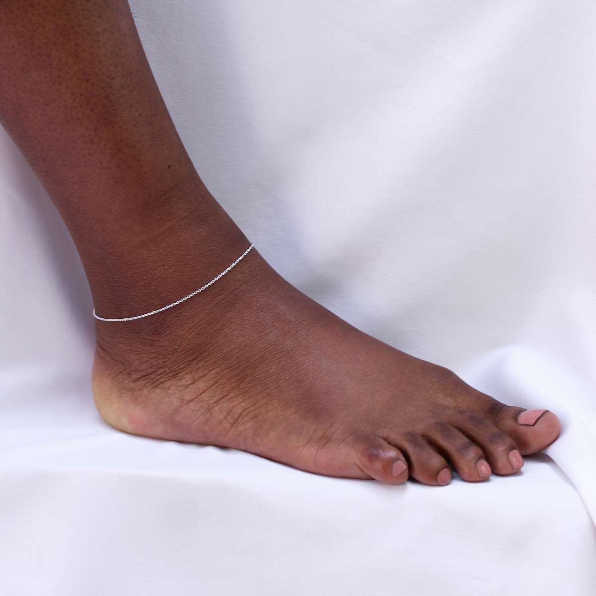 Alterative image for Sterling Silver Fine 10 Inch Trace Chain Anklet