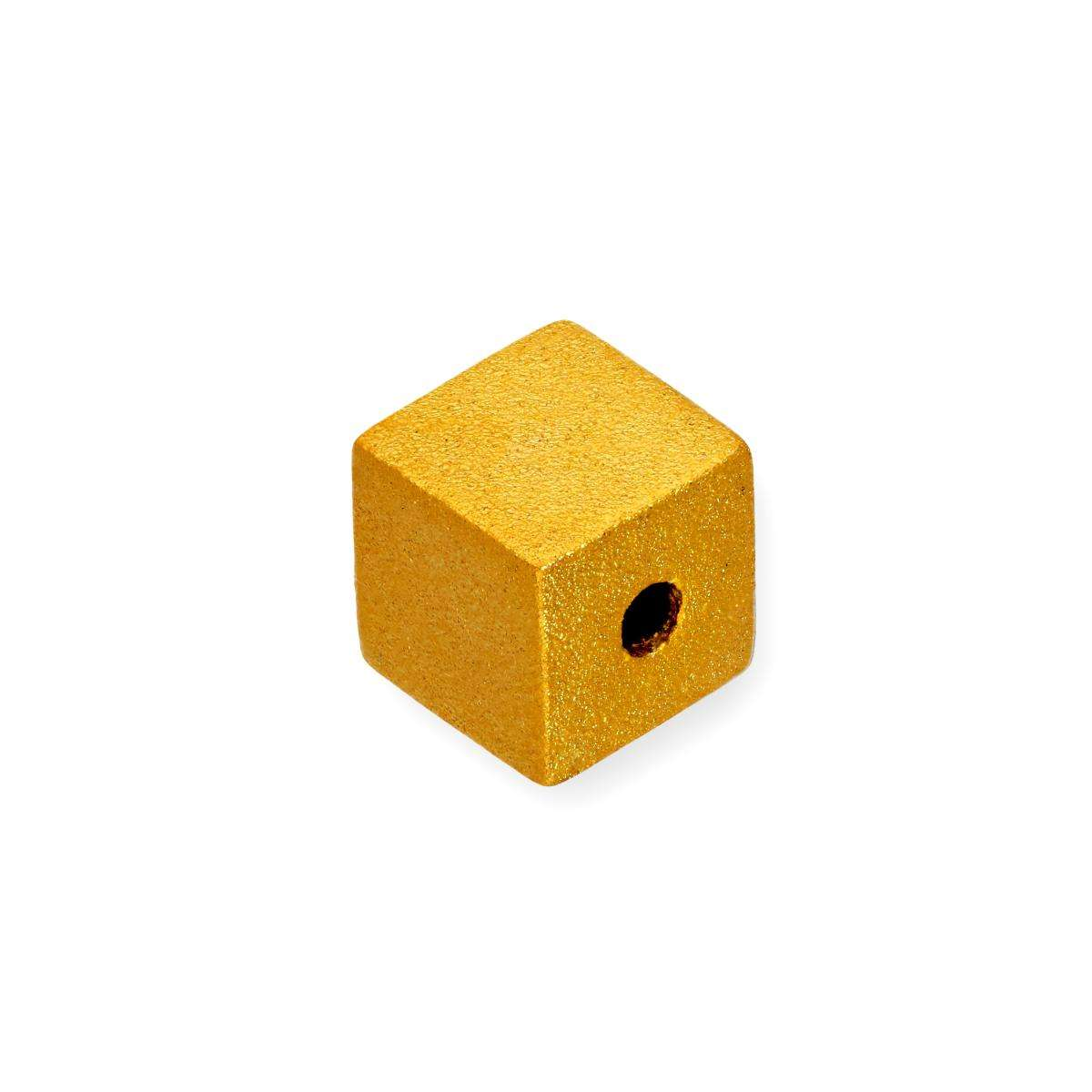 Alterative image for 9ct Gold Frosted Cube Bead Charm