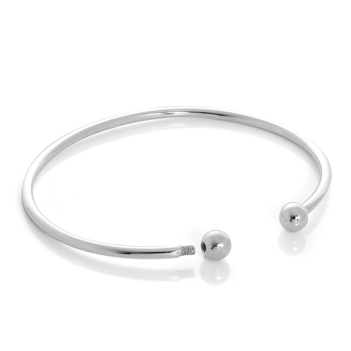 Alterative image for Solid Sterling Silver Opening Torque Mens Bangle