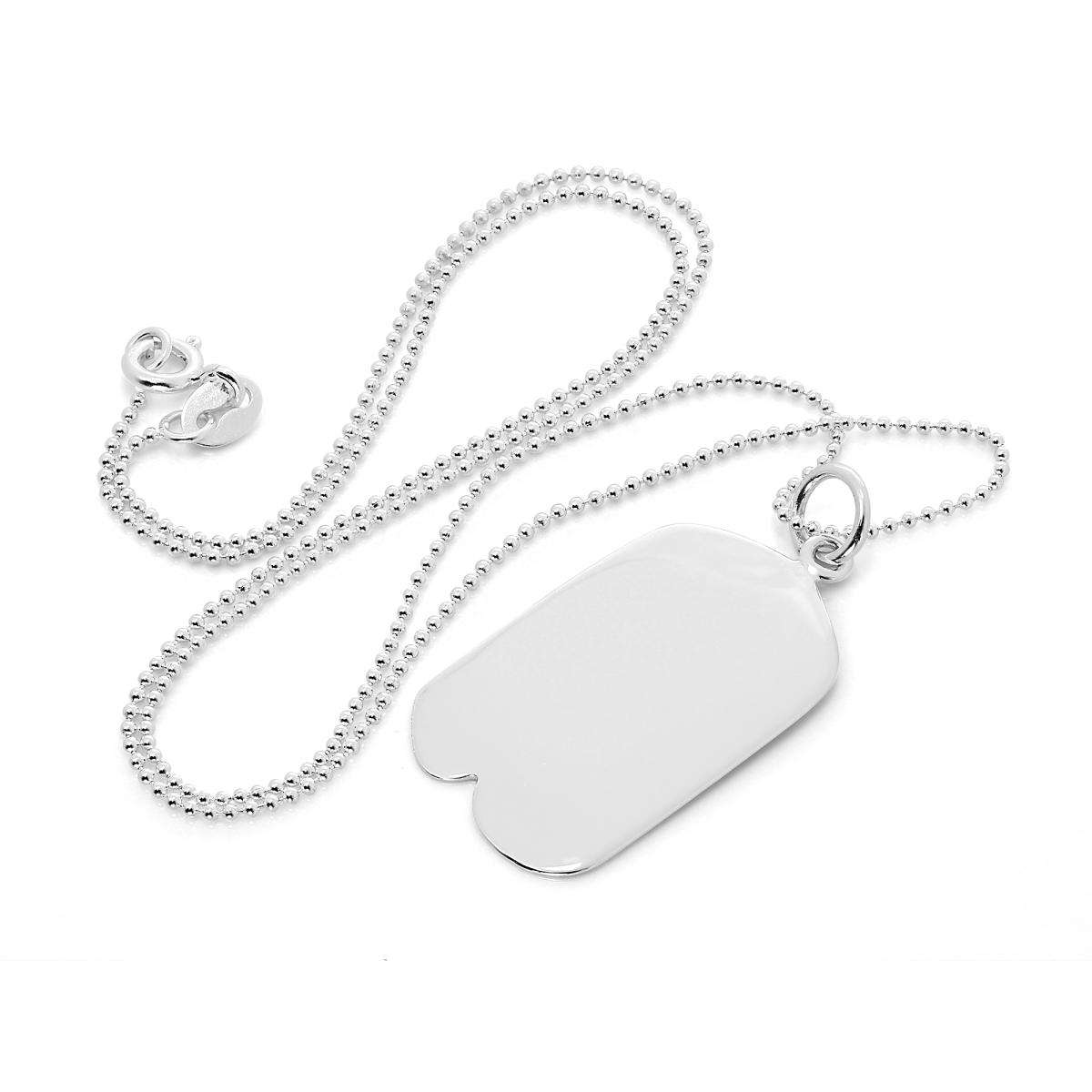 Alterative image for Large Sterling Silver Engravable Pendant with Dimple
