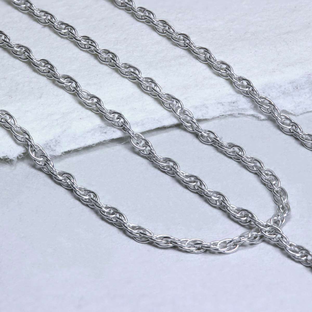 Alterative image for Fine Sterling Silver Prince of Wales Chain Necklace 16 - 22 Inches