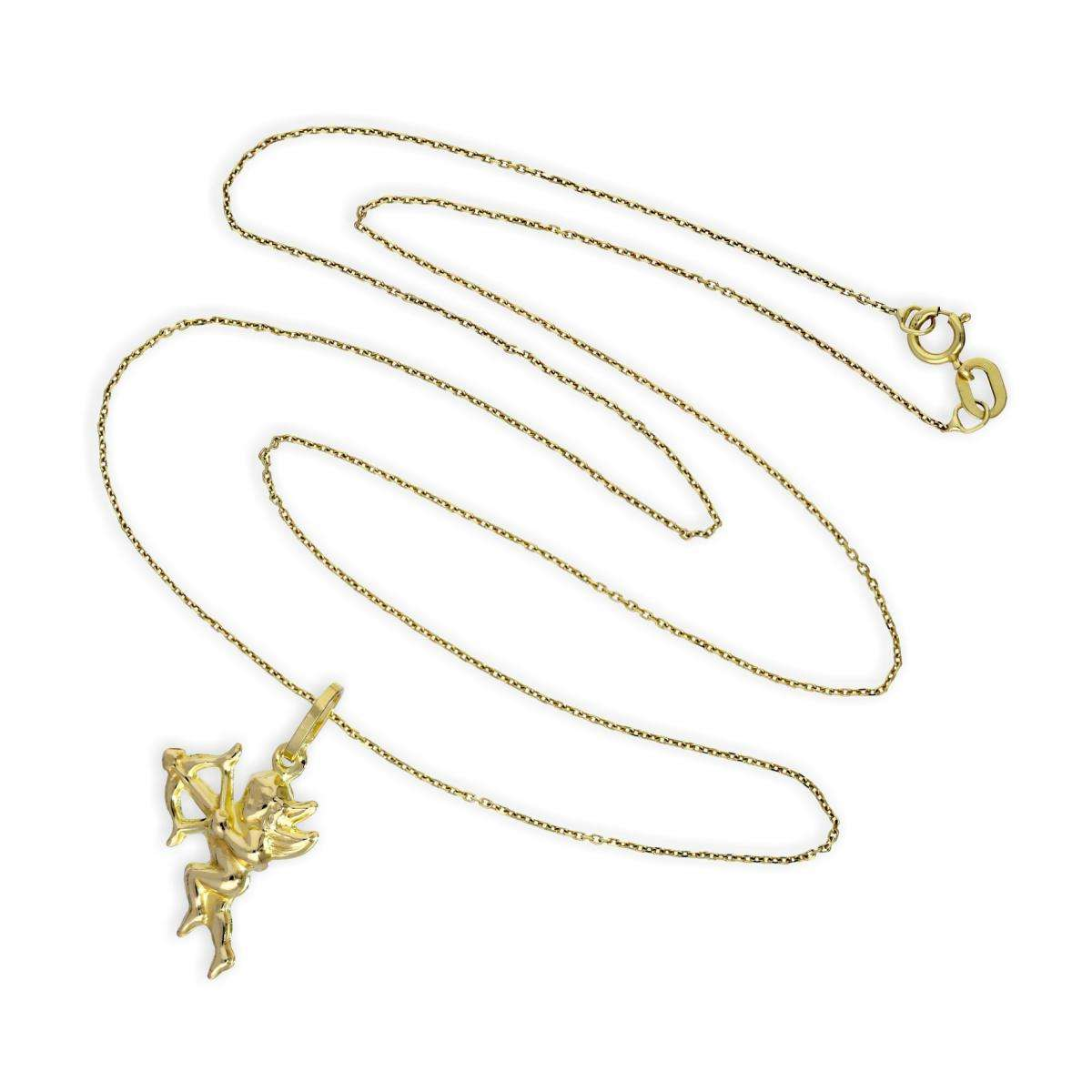 Alterative image for 9ct Gold Cupid Angel Pendant Necklace Necklace 16 - 20 Inches