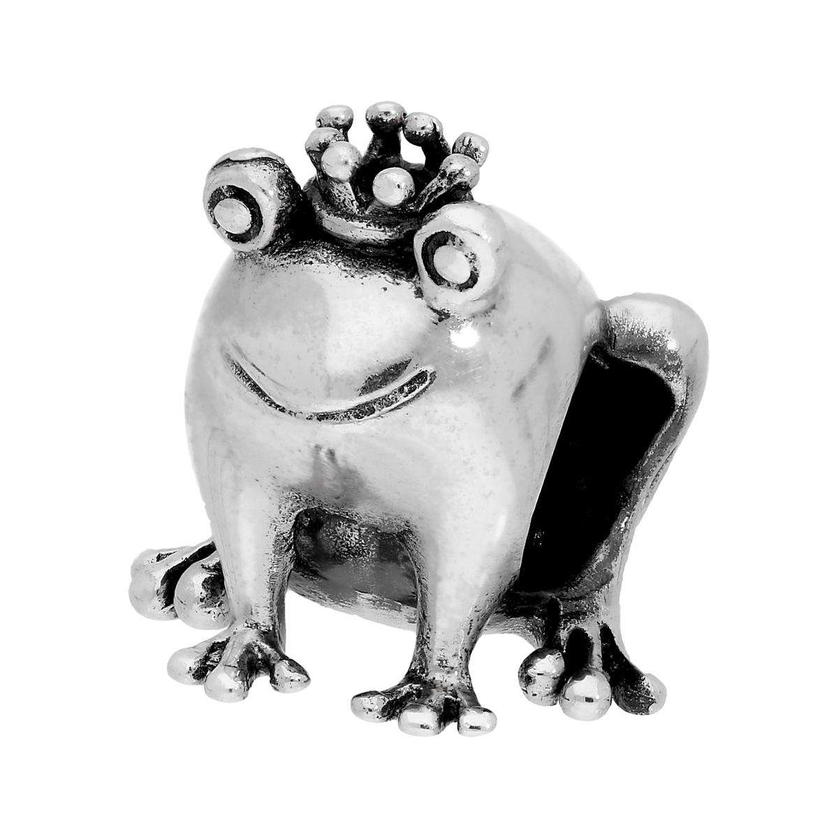 Alterative image for Sterling Silver Frog Prince Bead Charm