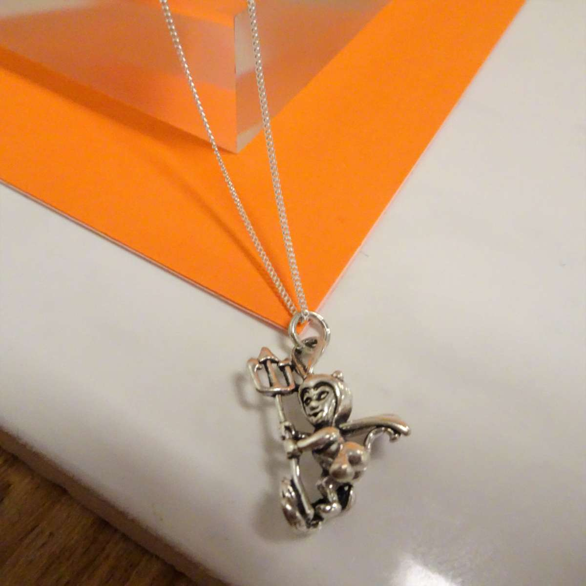 Alterative image for Sterling Silver Devil Necklace