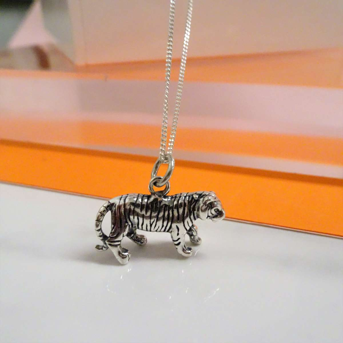Alterative image for Sterling Silver Tiger Necklace