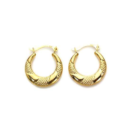 9ct Gold Triple Twist Creole Hoops