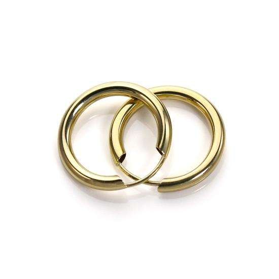 9ct Yellow Gold 15mm Hoop Earrings