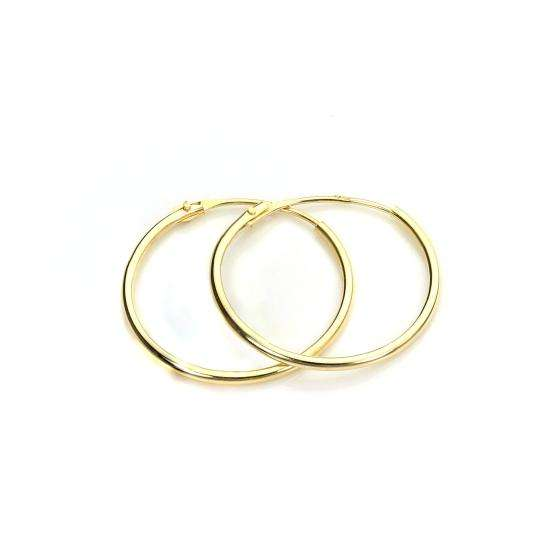 9ct Gold 14mm Hoops Sleeper Earrings