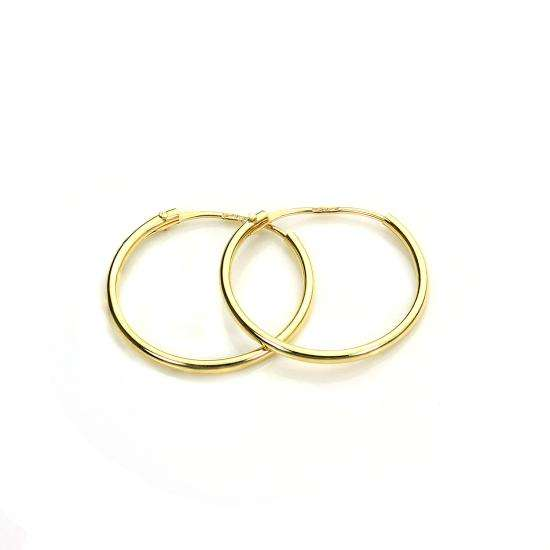 9ct Gold 12.5mm Hoops Sleeper Earrings