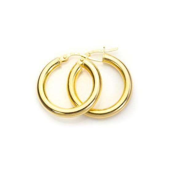 9ct Yellow Gold 15mm Creole Earrings