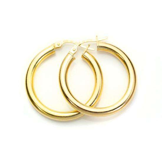 9ct Yellow Gold 20mm Creole Earrings