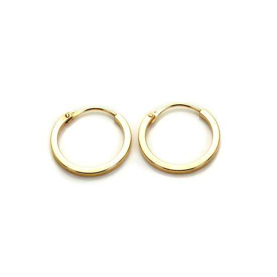 9ct Yellow Gold 10mm Square Hoop Earrings