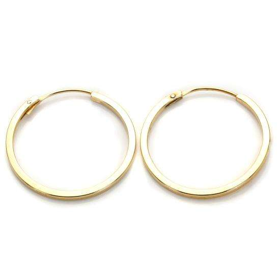 9ct Yellow Gold 16mm Square Hoop Earrings
