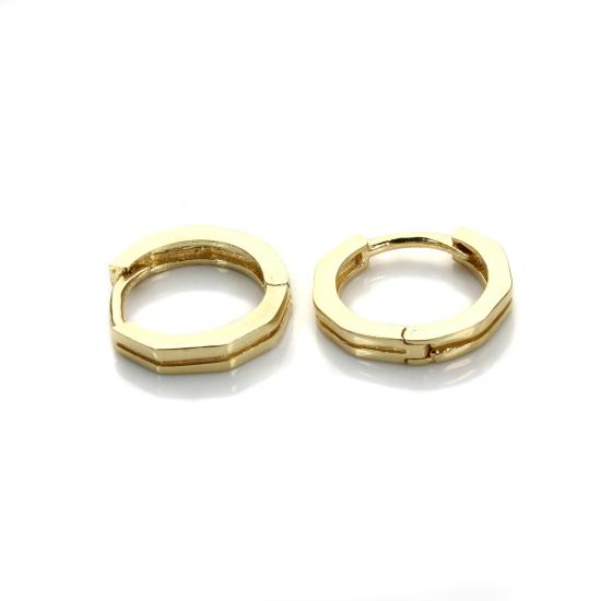 9ct Gold Engraved Huggy Hoops