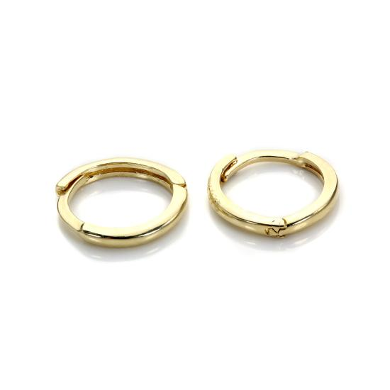 9ct Gold Plain Huggy Hoops