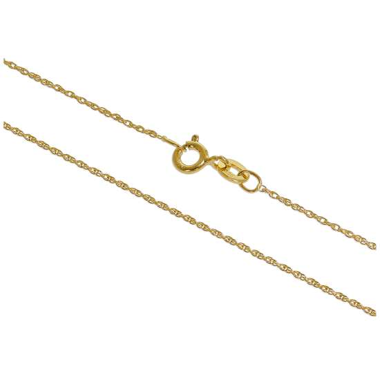Gold Plated Sterling Silver 14 - 28 Inch Prince of Wales Chain