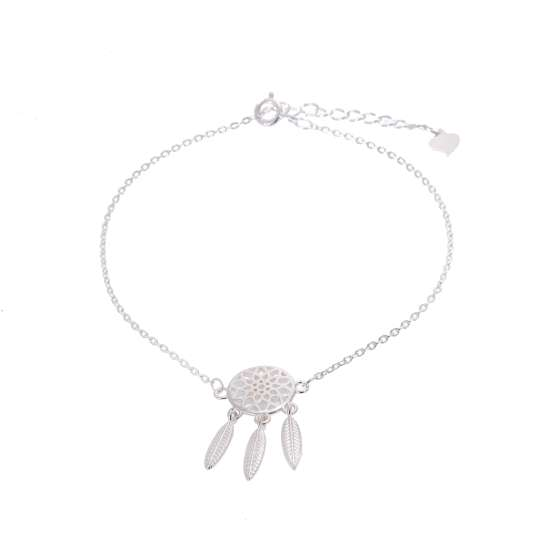 Sterling Silver Dream Catcher Adjustable Bracelet
