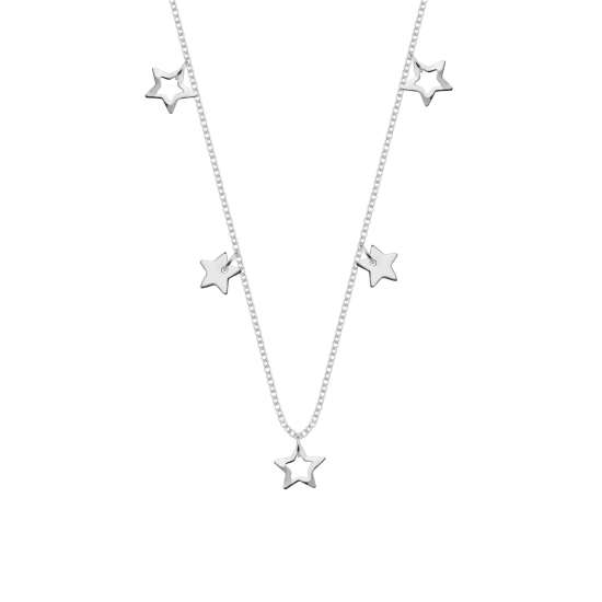 Sterling Silver Stars 18 Inch Necklace