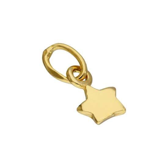 Gold Plated Sterling Silver Tiny Star Charm