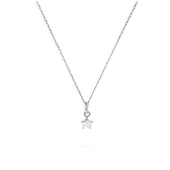 Sterling Silver Tiny Star Necklace 14 - 32 Inches