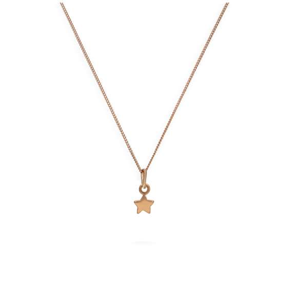 Rose Gold Plated Sterling Silver Tiny Star Necklace 14 - 32 Inches