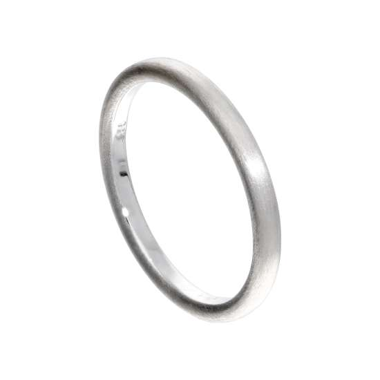 Small Sterling Silver Matt Finish Stacking Ring