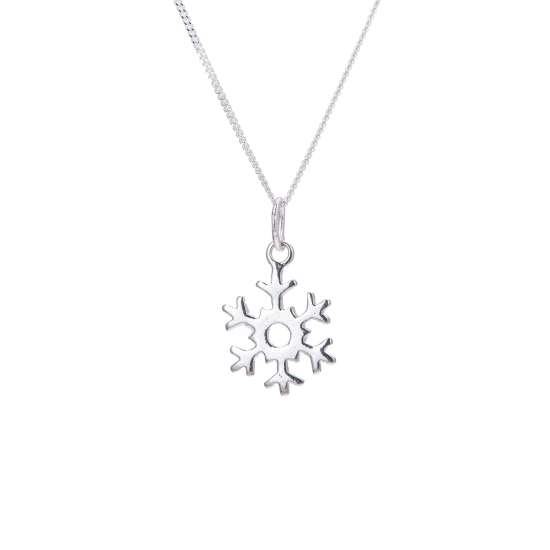 Sterling Silver Snowflake Necklace - 14 - 32 Inches