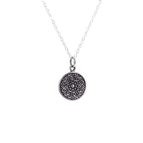Sterling Silver Round Chakra Necklace - 14 - 32 Inches