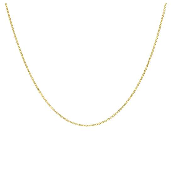 Gold Plated Sterling Silver Adjustable Slider Necklace 24 Inches