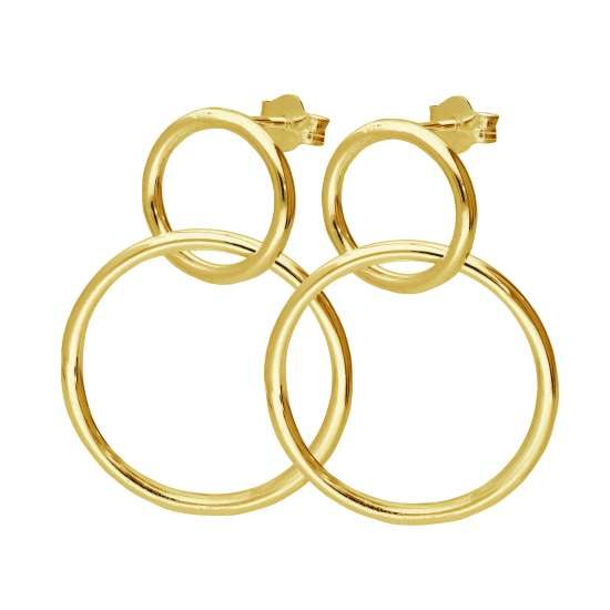 Gold Plated Sterling Silver Infinity Drop Stud Earrings