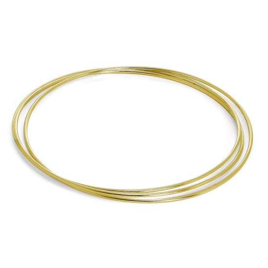 Gold Plated Sterling Silver Maidens Triple Russian Bangle
