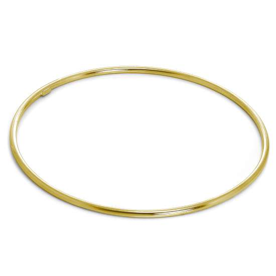 Gold Plated Light Sterling Silver 2mm Stacking Bangle