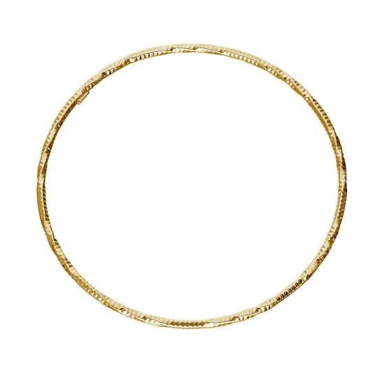 Gold Plated Sterling Silver Diamond Cut Twist Bangle
