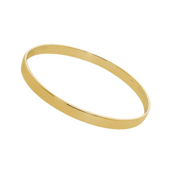 Gold Plated Sterling Silver Engravable 67mm Bangle